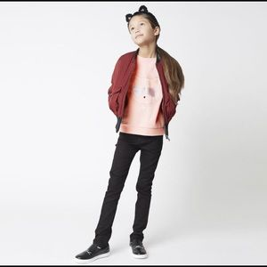 Karl Lagerfeld KIDS Stretch Profile Denim in Black